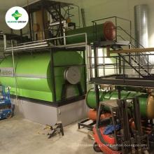 Waste pyrolysis oil engine oil lubricant oil distillation to diesel plant