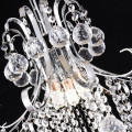simple chrome crystal chandelier pendant light