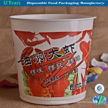 Tigela de plástico descartável para comida para levar