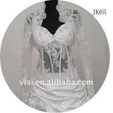 JK65 women Beaded Long sleeves wedding jacket
