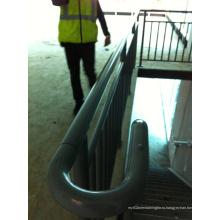 Внутренние и наружные стальные перила с перилами для лестниц