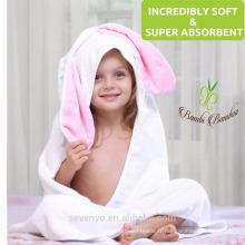 Serviette bébé en bambou bio à capuche Extra doux et durable PremiumTowels Rapidement sèche peau sensible - lapin mignon
