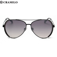 Cramilo alta calidad moda gris hormiga gafas de sol hombres mujeres lentes gafas de sol Oculos masculino vidrio lunette de soleil F2043