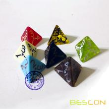 Custom 4 Sides Dice in Various Effect of Transparent or Opaque