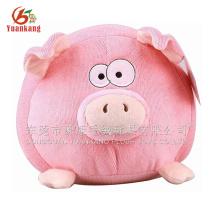 China Dongguan fábrica de pelúcia brinquedo de pelúcia rodada rosa porco