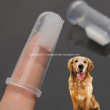 Brosse à dents en silicone pour animaux de compagnie