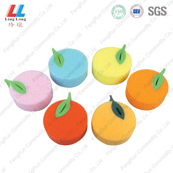 apple shape sponge