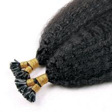 Природные цветные высокое качество 1g нитей 100% человеческих волос индийский расширение странный прямо U кончика волос на продажу