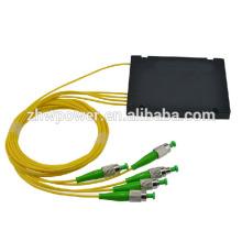 1 * 4 ST APC diviseur de fibre optique module ABS, gros box plc diviseur commande de bienvenue