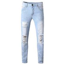 Men's Ripped Paint-splashing Jeans Wholesale