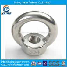 In stock 304 stainless steel eye nut DIN582