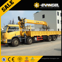Low Price Sinotruck chassis SQ12SK3Q 12t truck mounted crane For Sale