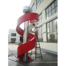 Modern Large Famous Arts Abstract stainless steel Fountain Sculpture for Outdoor decoration