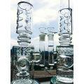 23 Inche K42 Roor 3 Tubo de vidro de naco de abelha e gaiola de cimento Percolator, tubo de água para fumar