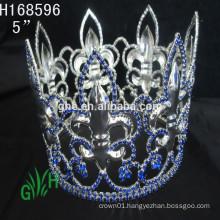 .New Designs Rhinestone whole circle boy crowns& tiara