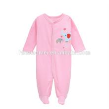 Projeto bonito infantil bebê meninas macacão de manga longa inverno rosa cor em branco baby onesie para meninas do bebê
