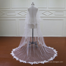 Two Layers Lace Wedding Long Veil