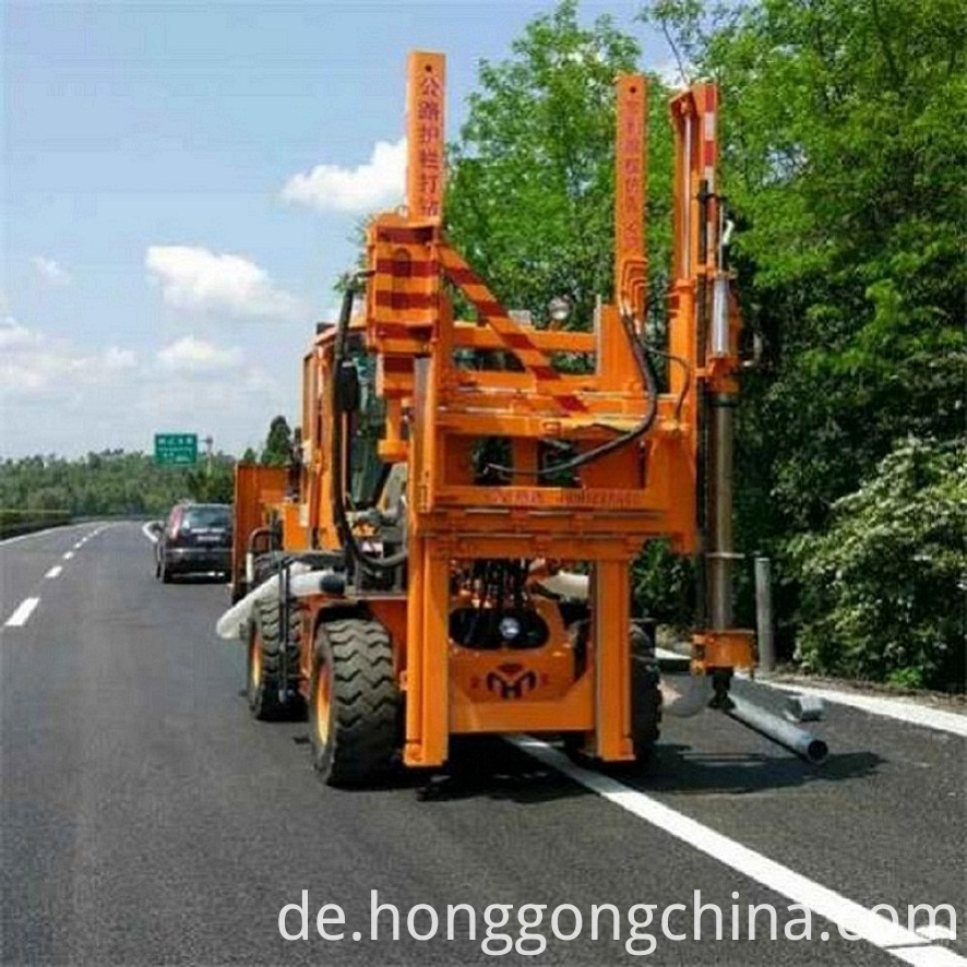 Guardrail Piling Machine
