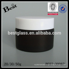 20/30/50g amber cosmetic jar with lid ,glass cream jar for sale, cosmetic jars and lids glass