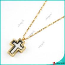 Hot vente Croix pendentif médaillons collier pour garçon (FL16040837)