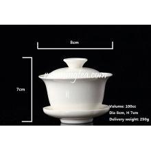 Meilleur prix en céramique blanche Gaiwan-Oolong / tasse de thé noir (100cc)