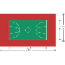 Revêtement de sol en PVC pour sports à l'aide de 3,5 mm * 1,5 m * 20 m / rouleau
