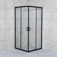 Modern Simple Design Sliding Black Frame Square Shower Room Bathroom Door