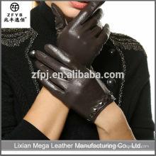 Guantes de cuero del dedo del paquete de la alta calidad al por mayor del precio bajo