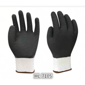 13G Polyester/Nylon Latex Welle Crinkle vollständige Beschichtung Handschuh
