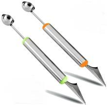 Couteau à découper les fruits à double extrémité Melon Baller