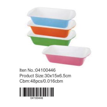 Colorful ceramic loaf pan