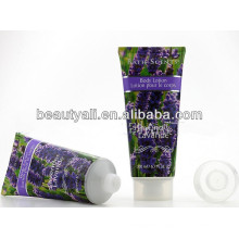 clear labelled Plastic cosmetic tubes