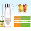 Free Shipping Fruit Lemon Water Bottle 650ml Multi Color H2O Water Drinking Bottle Infusion Sports Bottle