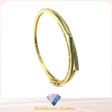 Venda al por mayor la pulsera del brazo del brazal de los brazaletes de Hip Hop del oro y de la plata 2015 de la manera para la señora G41251