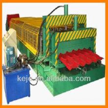 Tuile de toiture revêtue de couleur feuille d'étape machine de formage de rouleuses ligne de production entièrement automatique