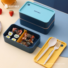 Portable Lunch Box For Kids School Microwave Plastic Bento Box With Movable Compartments Salad Fruit Food Container Box