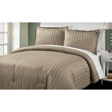 Gestreiftes dreiteiliges Bettwäscheset aus 100% Baumwolle / Polyester