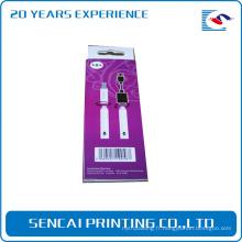 Produits électroniques personnalisés date boîte de papier d'emballage de changeur de fil