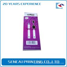 Caixa de papel de empacotamento do cambiador de fio da data dos produtos eletrônicos feitos sob encomenda