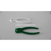 Braçadeira descartável do cabo umbilical com cortador