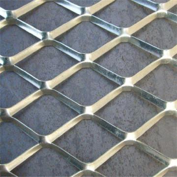 Maille de collecte augmentée en métal argenté en aluminium