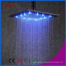 Fyeer Big LED Cor Quadrada Preto Rainfall Shower Head