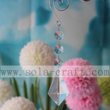 Unique Leaf Acrylic Crystal Chandelier Trimming Prism For Curtain And Part 16CM