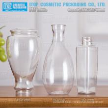 100ml 250ml 300ml projeto especial única camada dura de boa qualidade cor injeção única plástico claro de garrafa pet
