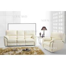 Sofá reclinável para móveis de couro italiano moderno (604)