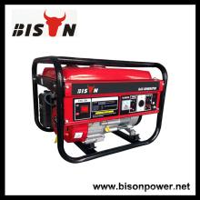 Bison China Zhejiang 3kw OEM de gasolina de una sola fase Powered generador conjunto