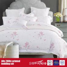 40Х 200TC печатных комплект постельных принадлежностей для отель/домашнего использования