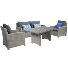 Sofa de salon de jardin Wicker Patio en rotin ensemble de meubles de plein air