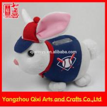 2015 niños juguetes caja de dinero de felpa conejo en forma de caja de dinero del banco de dinero caja de ahorro de dinero personalizado