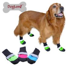 Haute qualité à bas prix imperméable bottes de neige pour animaux de compagnie sécurité réfléchissant anti chaussures de chien de glissement